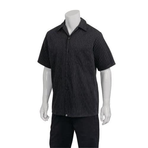 Chef Works Pinstripe Cook Shirt L